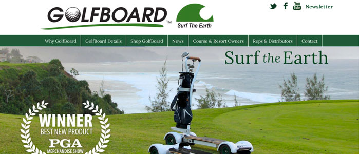 Golfboard website