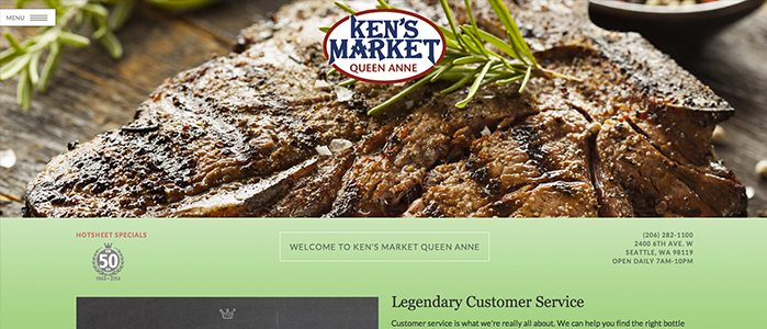 Ken's Market Queen Anne Website