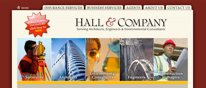 Hall & Company website