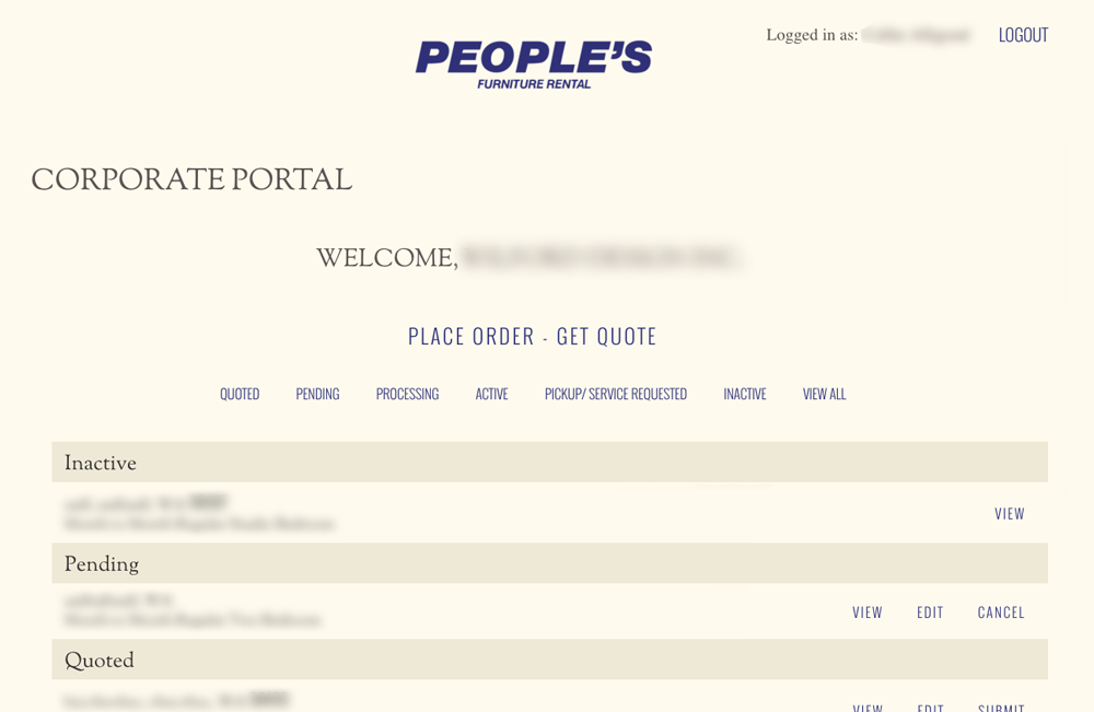 People's Furniture Corporate Portal